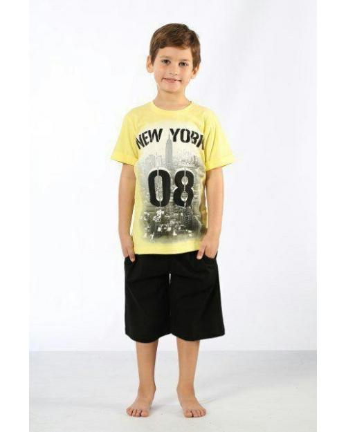 ست تی شرت شورت پسرانه ترکیه اوزکان 30992